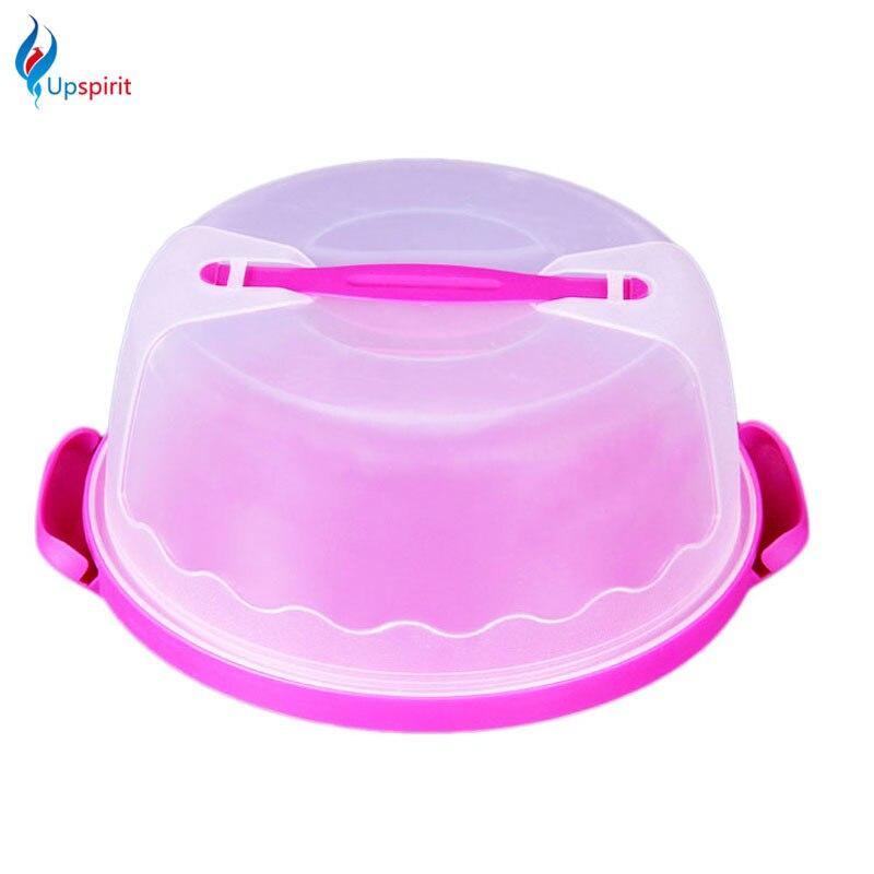 Écologique En Plastique Boîtes De Rangement Cupcake Gâteau Muffin Cadeau Bonbons Partie Gâteau Portable Carry Box Récipient De Nourriture de Cuisine