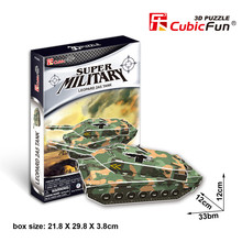 Candice guo 3D puzzle paper building model P630h Super military Leopard 2A5 Tank assemble toy birthday