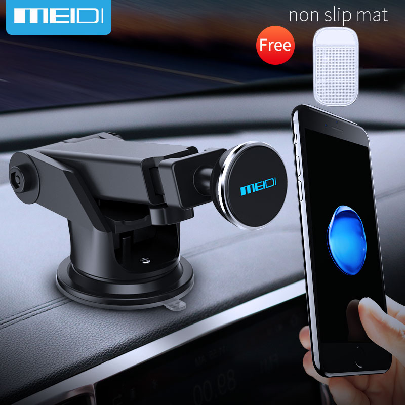 MEIDI Car Phone Holder Suction Windshield Mount Stand 360 Adjustable Phone Holder For iPhone7 6S 5 Samsung GPS Suporte Movil Car