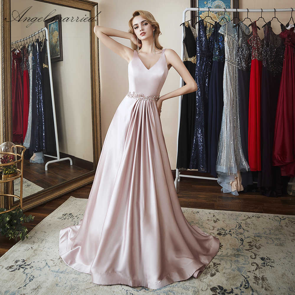 80e3fc2103eab Detail Feedback Questions about Angel married simple Evening Dresses ...