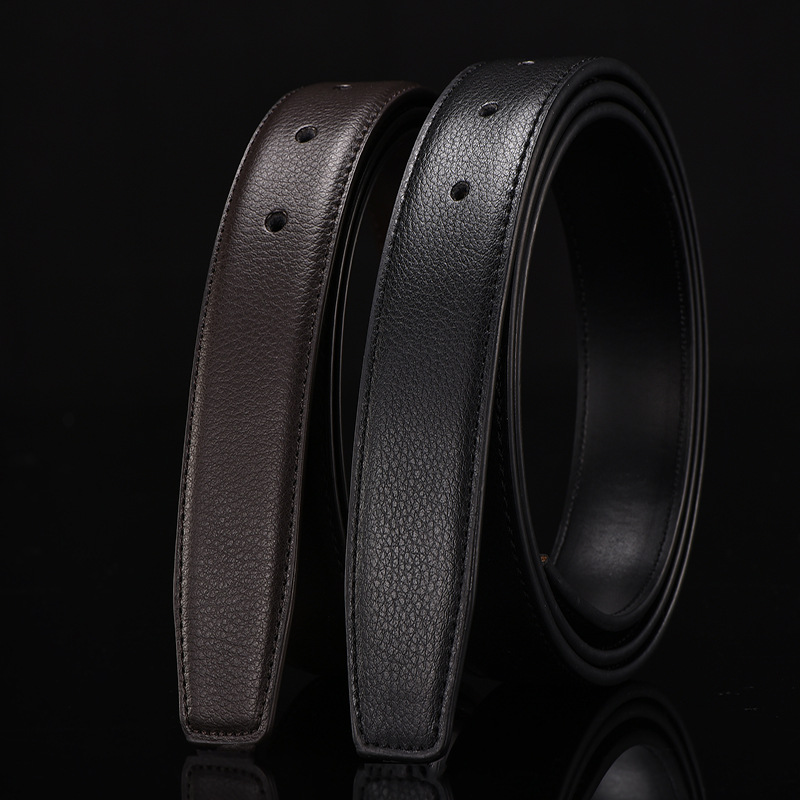 Zpxhyh Male Automatic Buckle Belts No Buckle Belt Brand Men High Quality Male Genuine Strap Jeans Split Leather Luxury Belt