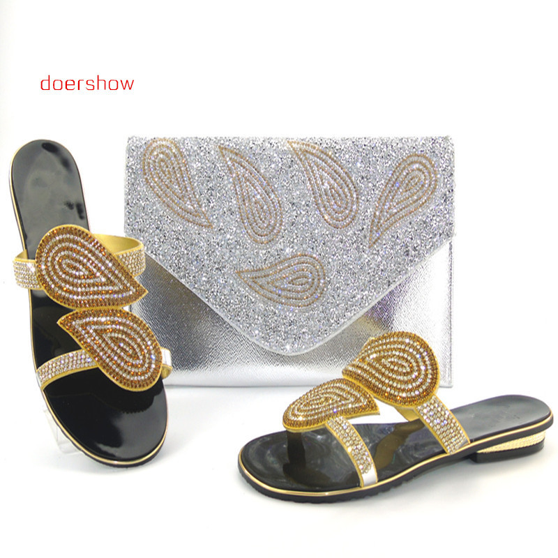 doershow Italian shoe with matching bag for wedding african shoe and bag set new style ladies shoe and bag to match set Hlu1-13 doershow italian shoes with matching bags set for party african shoe and bag with diamonds shoe and bag to match set hlu1 30
