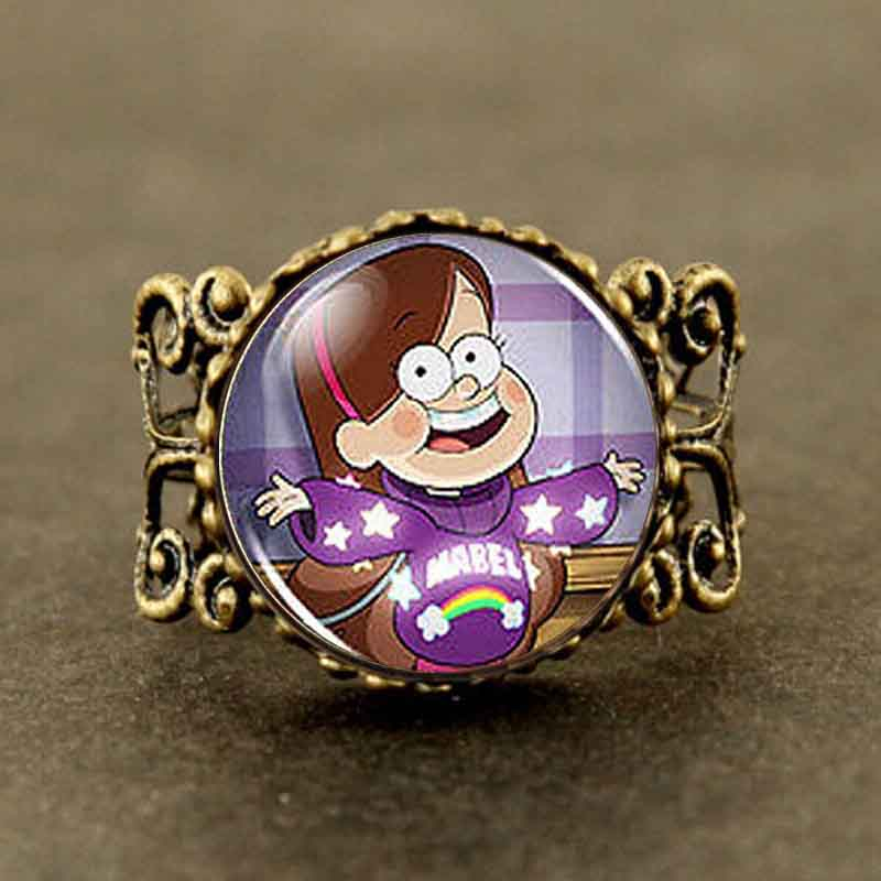 2016 Drama Gravity Falls Mabel BILL CIPHER WHEEL Steampunk ring doctor dr who 1pcs/lot mens fashion jewelry womens new rings hot