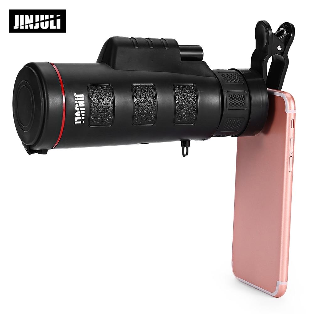 JINJULI 35X50 Monocularteleskop HD Nachtsicht Weitwinkel Prisma Umfang Mit Telefon Clip
