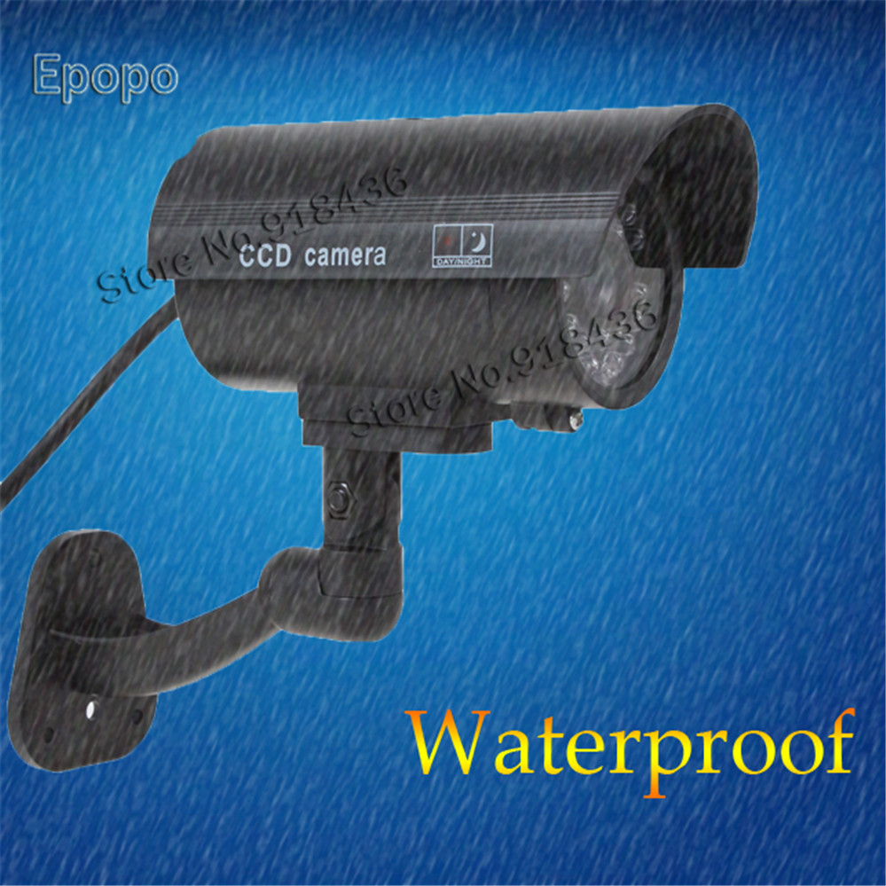 Waterproof CCTV False Emulational Outdoor Fake Dummy Security Camera Decoy With IR Wireless Blinking Flashing Red
