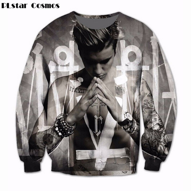 504dfe923b38 PLstar CosmosWomen Men Justin Bieber Hoodie 3D Sublimation print fleece Sweatshirt  Crewneck Fashion Clothing Sweats Jumper