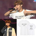 KPOP BTS Bangtan Boys Third Anniversary J HOPE T Shirt 2016 K-POP Classic Black White Cotton Short Sleeve T-shirts k pop Tshirts