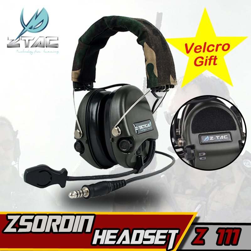 Z TAC Airsoft Element Z Tactical Military Headset Softair Peltor Sordin Earphone For Shooting Arsoft IPSC