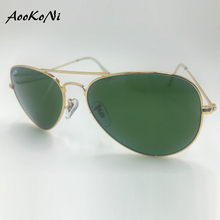 9f5262214 أفضل خمر المعادن uv 400 حماية النظارات الشمسية الكلاسيكية العلامة التجارية  نظارات شمسية طلاء الزجاج G15 عدسة للسيدات سيدة شهم M