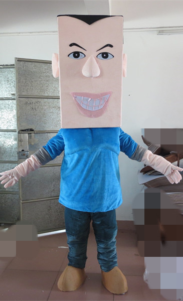 New pretty Blue Plush Little Boy Cartoon Fancy Dress Suit Outfit Animal Mascot Costume