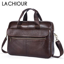 hot deal buy 16 inch real cowhide genuine leather men laptop bags casual business office handbags briefcases  male crossbody shoulder bags