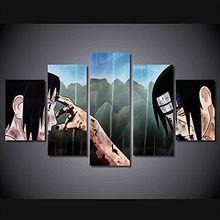 Anime manga Naruto Sasuke Uchiha vs Itachi Uchiha print poster canvas decoration 20x35cmx2,20x45cmx2,20x55cm
