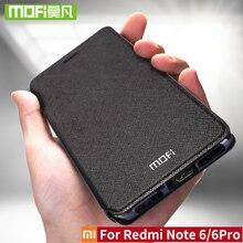 Чехол для Xiaomi Redmi Note 6, чехол для Xiaomi Redmi Note 6 Pro, крышка глобальной версии, флип кожа, оригинальные чехлы Mofi Redmi Note6