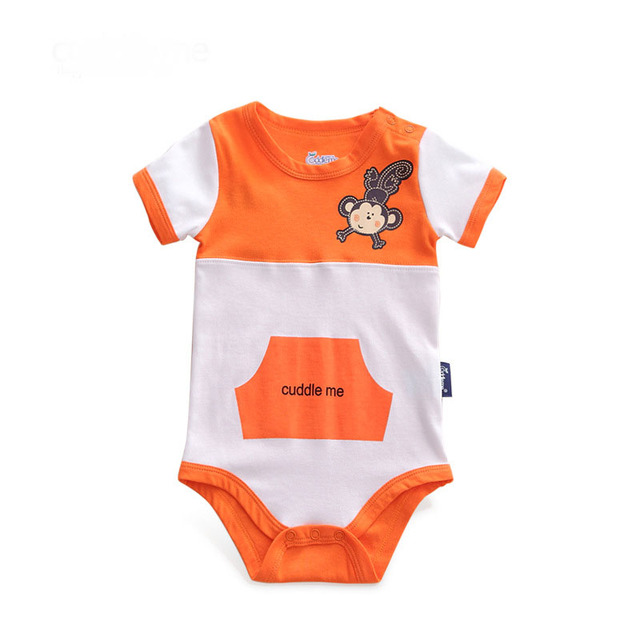 Short Sleeve Cotton Newbron Baby Bodysuits Spring Baby Girl Boy Football Sprots Casual One Pieces Cute Infant Jumpsuits Clothes