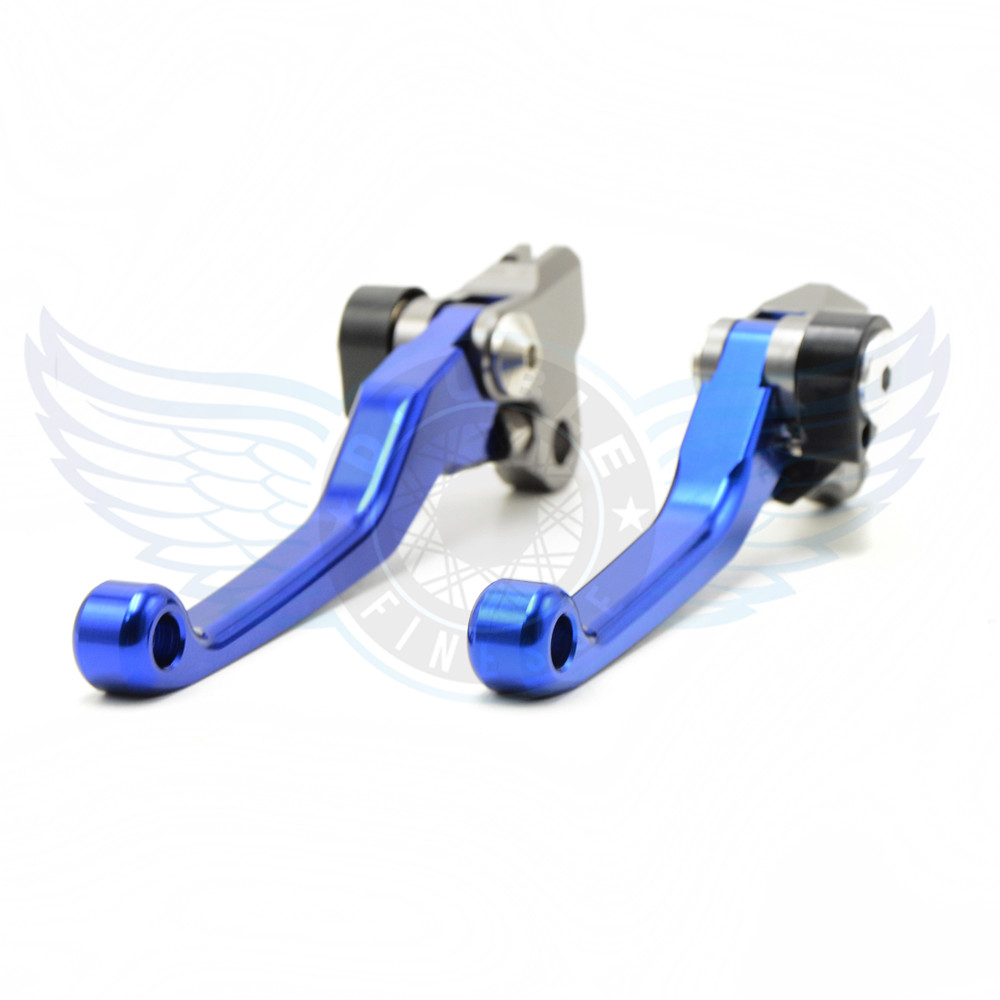 ФОТО CNC motorcycle Pivot Brake Clutch Levers blue brake clutch lever For Kawasaki KX250 1990-2008 KX250F 2004-2015 KX450F 2006-2015