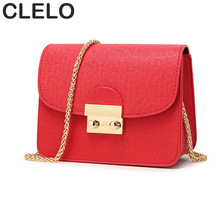 CLELO Small Flap Women Bag Designer Handbags 2017 Messenger Bag Female PU Leather Shoulder Crossbody Bags Vintage Mini Hand Bags