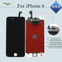 Mobymax 5PCS Lot 100 AAA Quality Tela For IPhone 6 LCD Display Touch Screen Digitizer LCD