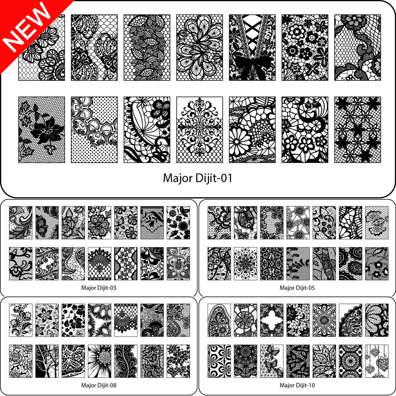 Beauty Lace Design Nail Stamping Plates Afbeelding Nail Stencil voor Nail Art Stamps Plates Manicure Template Nail Tool