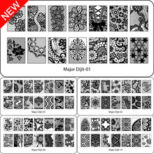 Beauty Lace Design Nail Stamping Plates Image  Nail Stencil for Nail Art Stamps Plates Manicure Template Nail Tool
