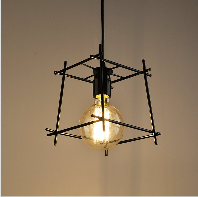Led Track Lighting India: Black Iron Lamp Shade Hanging Lights Fixtures Modern Led