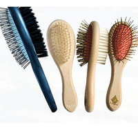 Pet grooming products double sided hair removal brush young cat interactive supplies dog stainless steel needle plastic comb
