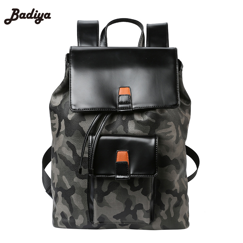 2017 New Fashion Male Backpack School Bags Backpack Men High Quality PU Leather Men Travel Bag Large Capacity zebella travel high quality pu leather men backpack big capacity waterproof functional male backpacks school teenager men bags