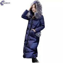 TNLNZHYL Женщин зимние пальто 2017 для женщин Меховой Воротник С Капюшоном Большой размер Куртки Хлопка пальто Супер Теплая зимняя куртка AK302