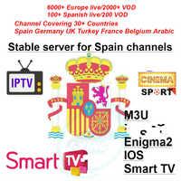 Espagne al Español/España/español iptv 7000 + En directo/Live francia Portugal deporte IPTV abonnement m3u voor de la caja de la tv Android Enigma2 m3u Smart TV