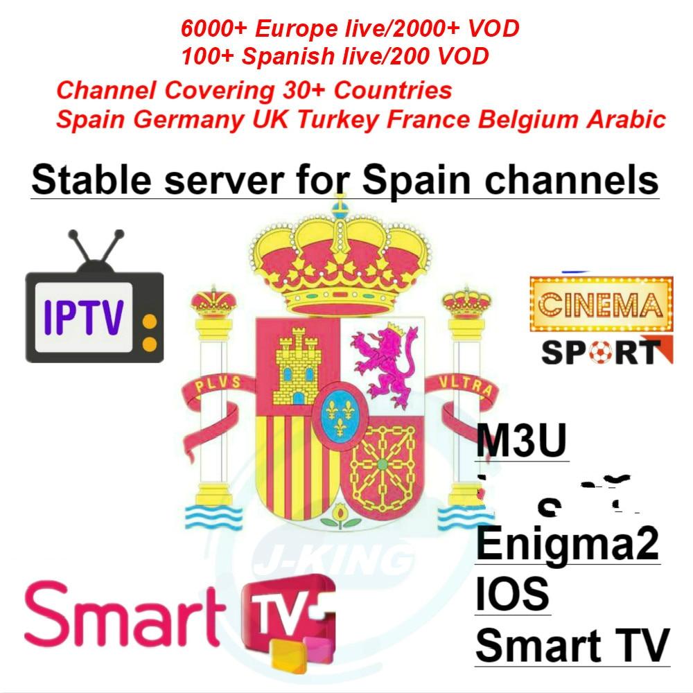 Spain IPTV Spanish 7000 +LiveTV Europe Arabisch France Spain IPTV champion abonnement voor m3u  Frankrijk belgische Arabische-in Set-top Boxes from Consumer Electronics