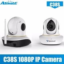 ptz ip camera VStarcam C38S support ONVIF network ip camera 1080p onvif ip cctv camera with Maximum support 128GB