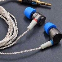 New TIN T2 In Ear Earphone HIFI Bass Earbuds Double Dynamic Drive Metal Earphone MMCX Headset