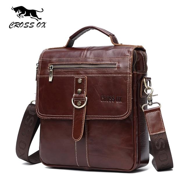 CROSS OX Лето 2017 г. Новинка натуральная кожа сумки для мужчин сумка мужская сумка Ipad держателем портфеля SL394M