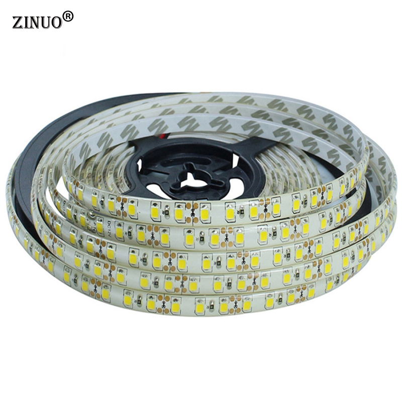 ZINUO 5M LED Strip light 2835 120Leds/M Waterproof IP65 LED Tape Brighter than 3528 3014 LED Ribbon, Lower Price than 5050 5630