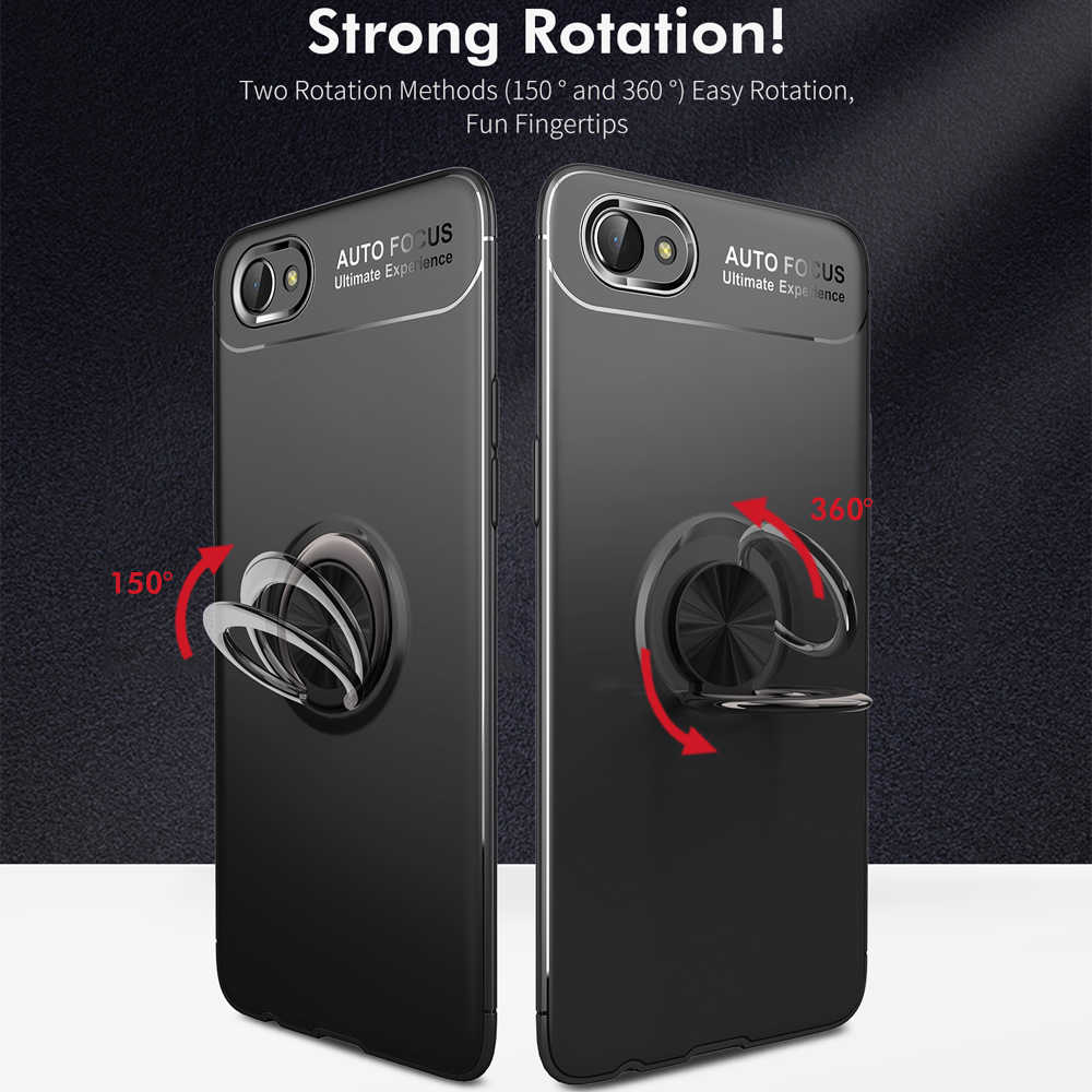 finest selection a7271 4a401 Voppton For OPPO A3S A5 Case Magnetic Car Bracket 360 Protective Matte Soft  TPU Back Cover Phone Case For OPPO A3 Coque Fundas