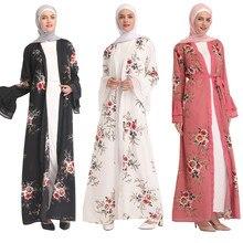 Şifon Abaya türkiye başörtüsü müslüman elbise Kaftan Dubai Abayas kadınlar için katar ramazan Kaftan Marocain Jilbab elbise İslam giyim