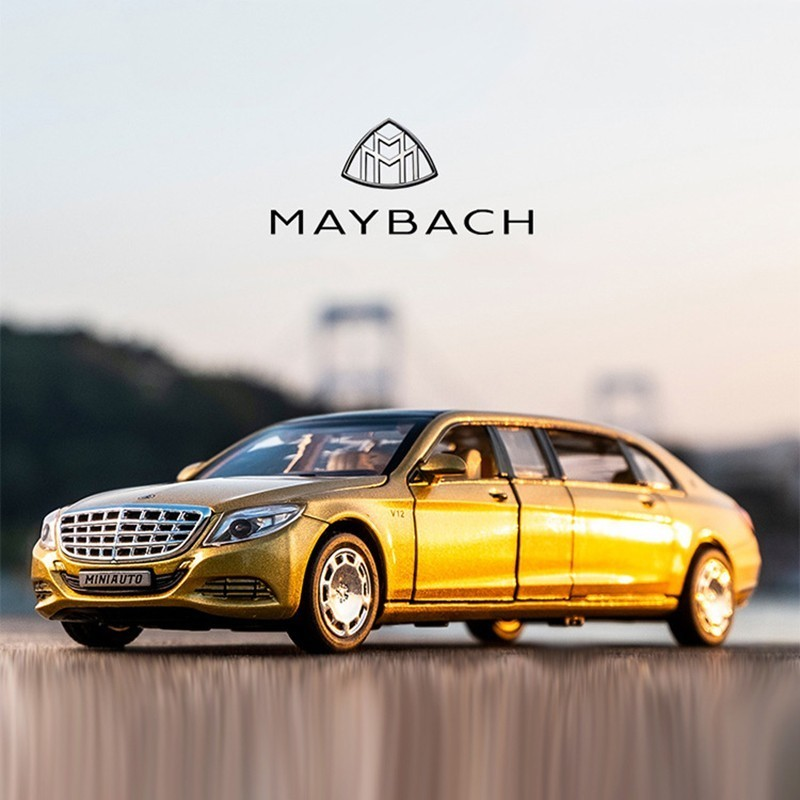 1/32 Maybach Diecast Metal Model Alloy High Simulation Car 6 Doors Openable Birthday Gift Inertia Toys For Children HotWheelsing