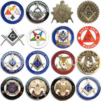 20pcs Masonic Car Emblem Mason Freemason decorations Badges Bronze Motorcycle metal car Emblems stickers - DISCOUNT ITEM  0% OFF All Category