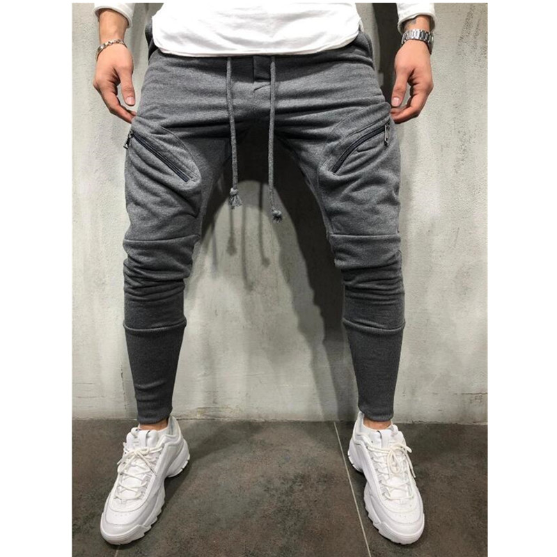 Trousers Sweatpants Business Casual Jogging-Pants Slim Multi-Pocket Straight Cotton Summer