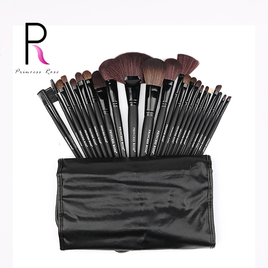 Princess Rose  24pcs Professional Make Up Makeup Brushes Set Kit Fan Brush Foundation Powder Blush Contour Eyeshadow PR24B princess pr 1300