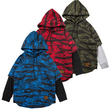 Купить с кэшбэком New spring Big Girls Boys Children hooded sweater Kids Boy's Sweatshirt Hoodies long sleeves  Fake two pieces Sweatshirt 6-16Y