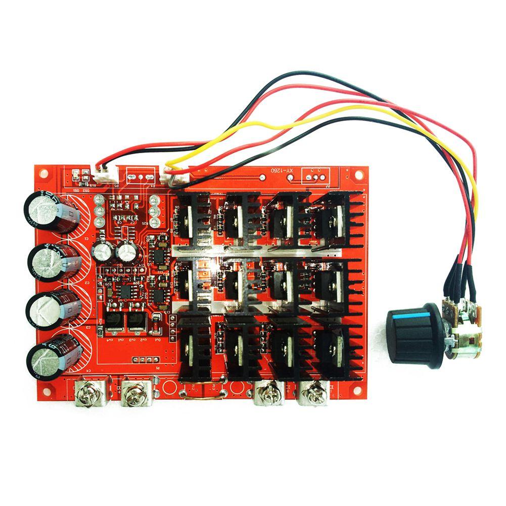 10-50V 60A DC Motor Speed Control PWM HHO RC Controller 12V 24V 48V 3000W Case