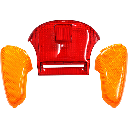 Honglue For SUZUKI Let's ZZ CA1PA CA1KA Motorcycle Scooter Taillight Plastic Cover Brake Light Cover
