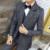 2016 outono e inverno masculino alongar terno cinza 3 peça conjunto de alta qualidade de lã anti-rugas terno masculino dos homens ternos blazer