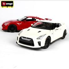 Bburago 1:24 2017 Nissan GTR simulation alloy car model crafts decoration collection toy tools gift стоимость