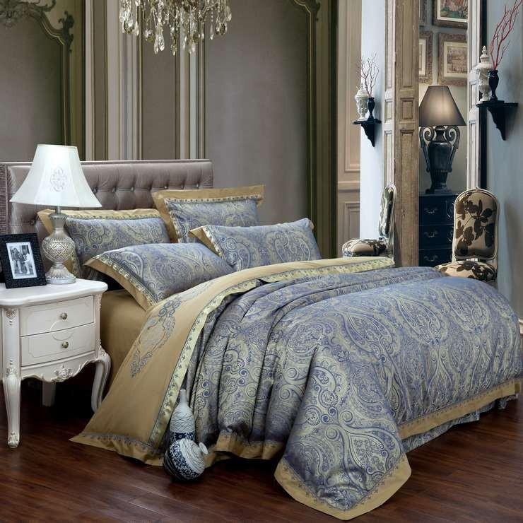 Buy new fashion home textile satin the for Housse de couette luxe