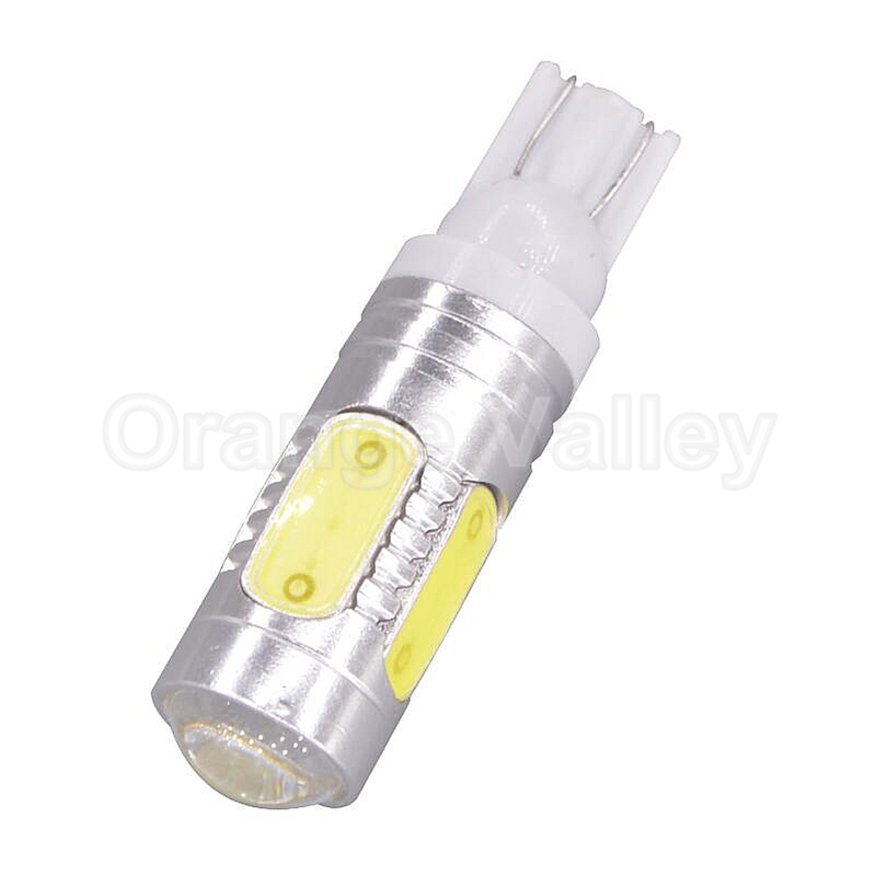 1pcs Hot Products High Power T10 Canbus W5W 5 LEDs 194 COB Car Lights Auto Daytime Running Reverse Lamps Backup Tail Bulbs Lens 1pcs 194 t10 cob w5w high power car led daytime running lights reverse lamps backup tail bulbs canbus no warning error free