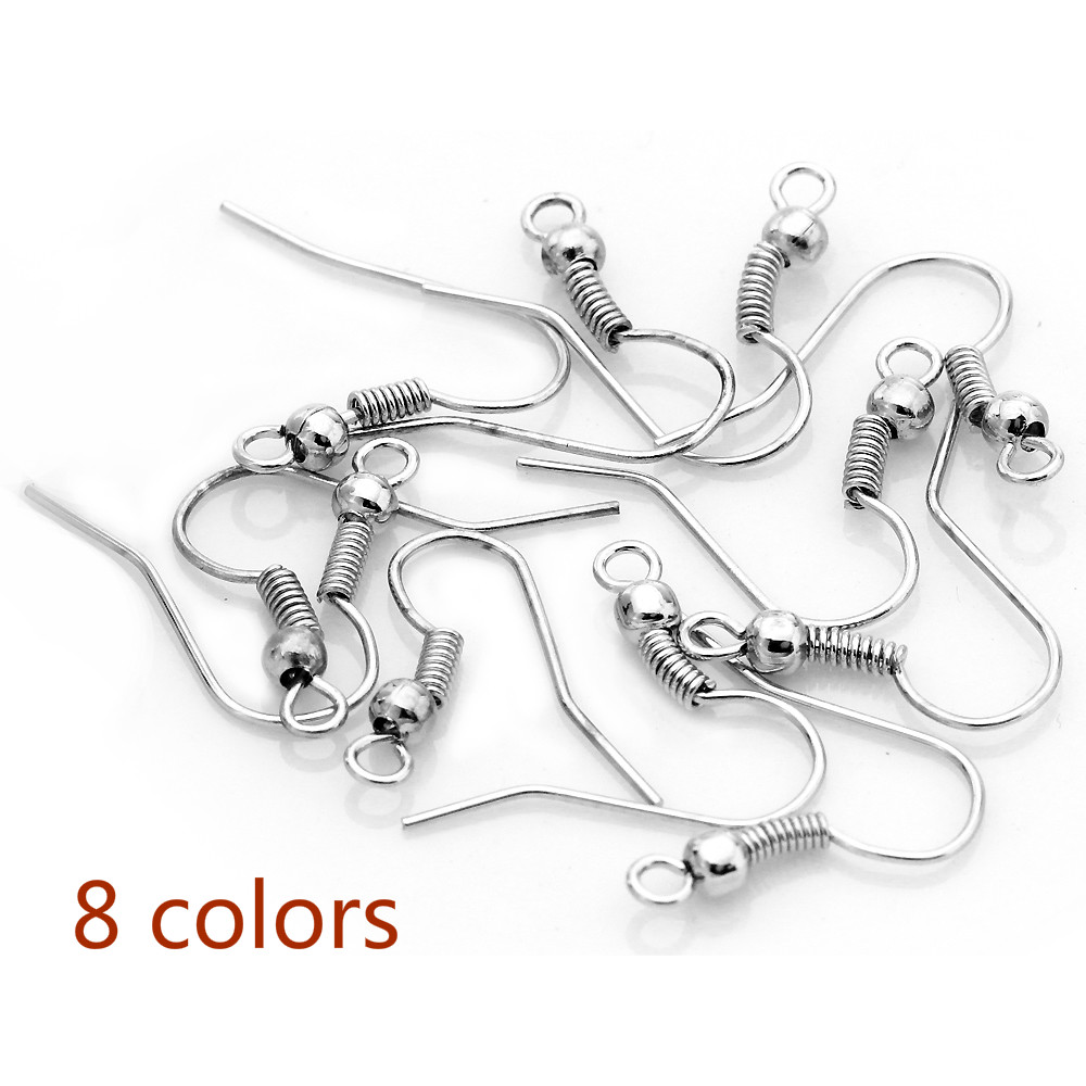 200pcs/lot High Quality Silver Color Imitation Ear Wire Hooks Ear Studs DIY Earrings Hooks Wire For Women Jewelry Findings F7 6 style 1 pair women ear studs rose gold color crown flower crystal diy earrings high quality earring women wedding jewelry