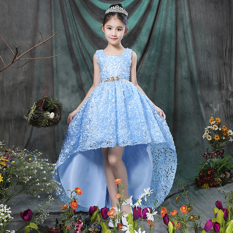 2-12 Years Luxury Flower Girl Dresses First Communion Dress for Girls Kids Prom Dress Ball Gown For Wedding Party Gown Trail A46 girl flower dress kids party wear sleeveless clothing girl wedding dresses ball prom first communion dresses for girls