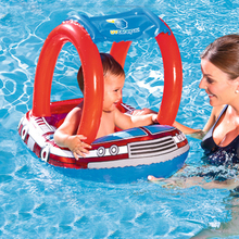 Police car shape plastic Frog shape inflatable PVC baby Infant adjustable sunshade seat swimming pool accessories