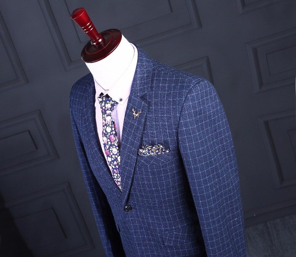 Aliexpress.com : Buy Latest Coat Pant Designs Blue Tweed Groom ...